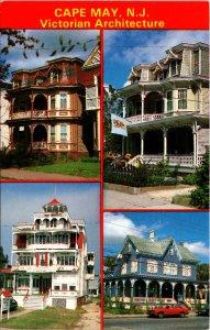 Cape May NJ Victorian Architecture Postcard unused 1960s