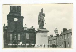 RP  Bruce Statue & Town Hall, LOCHMABEN, Scotland, UK, PU-1964