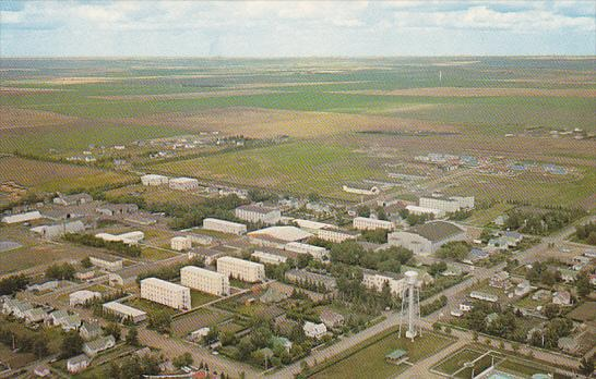 Canada Aerial View Prairie Bible Institute Three Hills Alberta