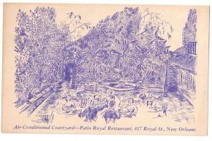 New Orleans LA Patio Royal Restaurant Courtyard