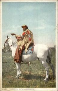 Native Indian Judge George Rustler Assinaboine Detroit Publishing Postcard
