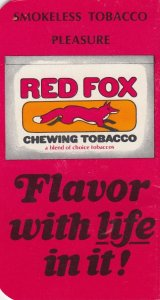 RED FOX Chewing Tobacco Booklet , 1930s