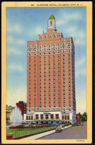 32120) New Jersey ATLANTIC CITY Claridge Hotel - pm1959 - LINEN