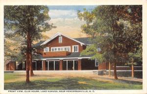 Hendersonville North Carolina~Lake Kanuga~Club House~Front View~1920s Postcard