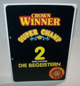 Crown Winner Super Champ FLYER Bergmann Original Slot Machine German Text