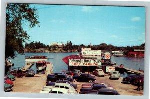Alexandria Bay NY- New York, Thousand Islands, Boat Tours, Docks,Chrome Postcard