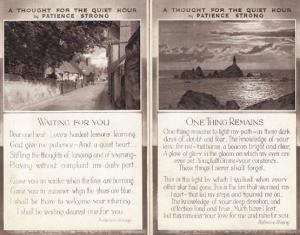 A Thought For The Quiet Hour In Patience Strong Waiting You 2 Antique Postcard s