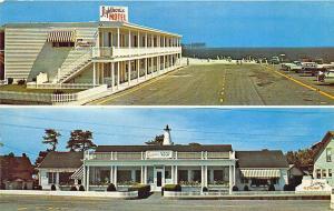 Pine Point Beach ME Lighthouse Motel & Restaurant Postcard