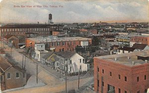 Tampa FL Aerial View Business District in 1911 Postcard
