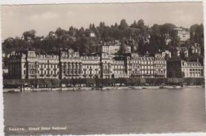 RP: Waterfront View of Grand Hotel National, Luzern, Switzerland 1951