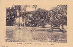 DAHOMEY ; 1925 ; Inodations de COTONOU , L'Ecole Regionale
