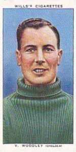 Wills Vintage Cigarette Card Association Footballers No 49 V Woodley Chelsea ...