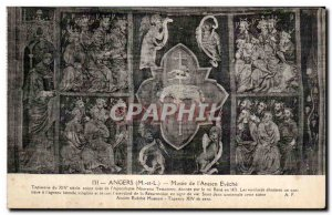 Old Postcard Angers Museum of Old bishopric tapestry of the fourteenth centur...
