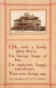 F97/ Emerson Nebraska RPPC Postcard c1910 Public School 14