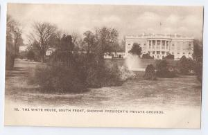 The White House South Front Washington D.C. UDB c1904