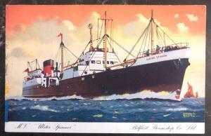 Mint Great Britain Picture Postcard MV Ulster Spinner Belfast Steamship Co