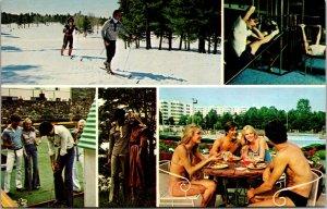 The Concord Hotel Resort MULTI VIEW Scene Kiamesha Lake,NY Vtg Chrome Postcard