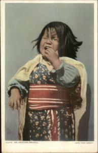 Fred Harvey 79346 Indian Child Crying - c1910 Postcard