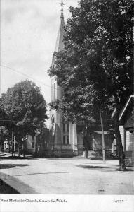 Greenville Michigan~First Methodist Church~Homes On Street~1908 CU Williams PC