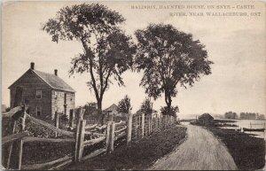 Baldoon Haunted House Wallaceburg Ontario Mystery Syne-Carte River Postcard G9