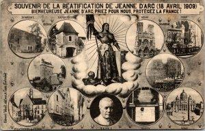 Jeanne/Joan of Arc w/Flowers 1910 Postcard - Views of Domremy la Pucelle, France