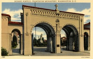 DC - Washington. Franciscan Monastery. Rosary Portico