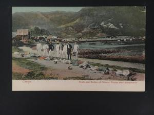 Mint vintage PPC Canton China Picture Postcard Decapitated Pirates Execution