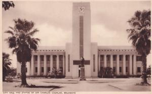 Bulawayo Zimbabwe City Hall Sir Charles Coghlan  Postcard