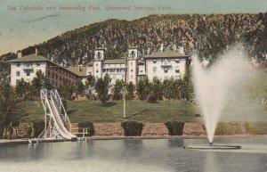 GLENWOOD SPRINGS, Colorado, PU-1907; The Colorado and Swimming Pool