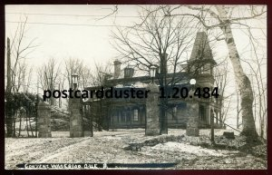 484 - WATERLOO Quebec 1920s Convent. Real Photo Postcard by J.A.Legare