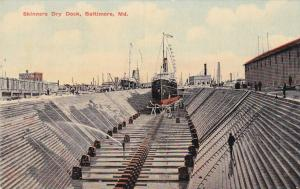 Ship in Skinners Dry Dock , BALTIMORE , Maryland , 00-10s