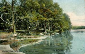 CT - Norwich. Mohegan Park, West Bank of Lake