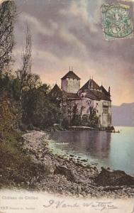 Switzerland Chateau de Chillon 1905