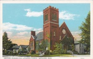 Church Emanuel Evangelical Lutheran Church Napoleon Ohio Curteich