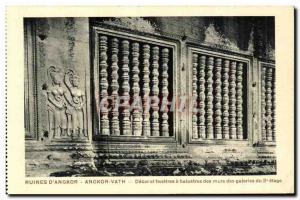 Postcard Ancient Ruins Cambodia Angkor Angkor Vath D Decor and windows have r...