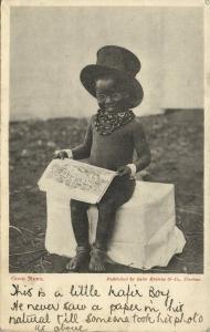 south africa, Good News, Young Boy Newspaper (1906) Sallo Epstein & Co. Postcard