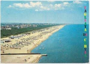 TAGLIATA DI CERVIA, Spiaggia e panorama, Italy, 1972 used Postcard