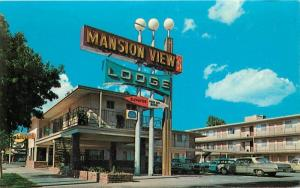 Autos 1960s Mansion View Lodge Sacramento California roadside 6926