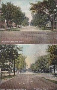 Kansas Wichita River View &amp  South Lawrence 1909