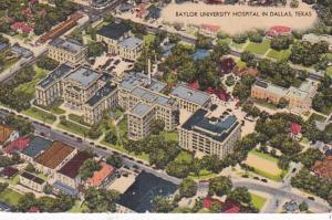 Texas Dallas Baylor University Hospital Aerial View 1946