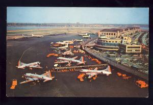 New York, NY Postcard, La Guardia Airport, American Airlines Planes, 1956!