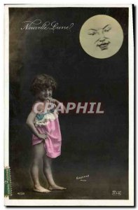 Old Postcard Fantasy Moon Child