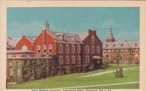 Maryland Baltimore Johns Hopkins University Engineering Buildings 1948