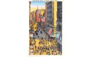 Washington Street Boston, Massachusetts Postcard