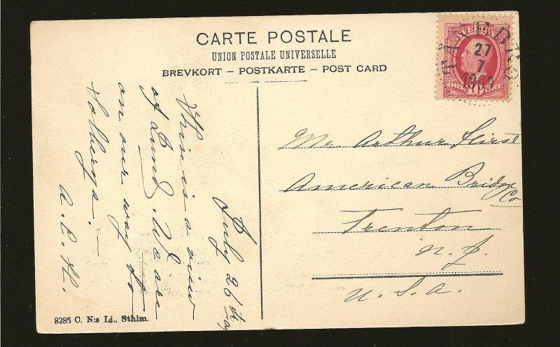 Postmark 1909 Tanebro Sweden Lund University UPU Postcard