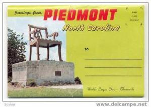 14-Views Souvenir Folder, Piedmont, North Carolina, 1950-60s