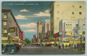 Sacramento CA~K Street~Hale Bros~Wards~Fox Theatre~Look: Berland's~1940s Linen