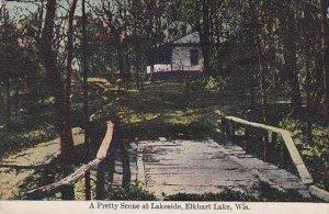 Wisconsin Elkhart Lake A Pretty Scene At Lakeside