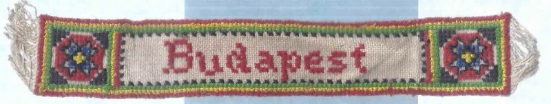 Ca1940 BUDAPEST EARLY WOVEN MULTICOLORED BOOK MARK NEEDLEPOINT TYPE