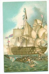 Battle of Trafalgar, H.M.S.  VICTORY  Oct 21st 1805   00-10s